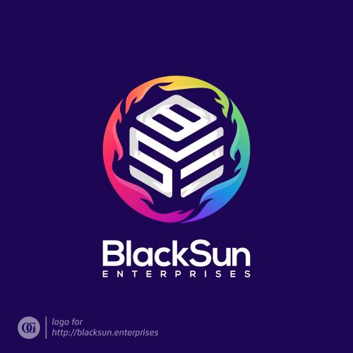 Logo done for blacksun.enterprises